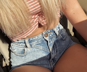 beautiful, cropped, and denim image