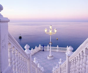 spain, sea, and white image
