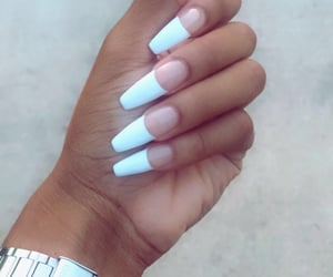 hand, manicure, and nails image