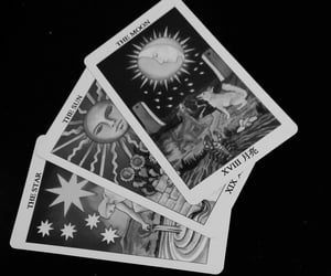 tarot, tarot cards, and The Moon image