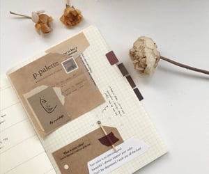 aesthetic, brown, and notebook image
