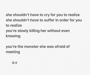 monster, poem, and poetry image