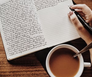 journal and coffee image