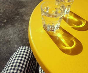 table and yellow image