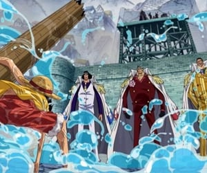 anime, combat, and one piece image