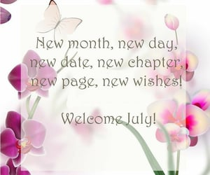 july and welcome image