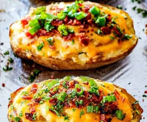 baked, delicious, and potato image