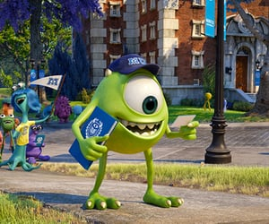 disney, monsters university, and mike image