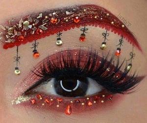 eye, christmas, and eyeshadow image