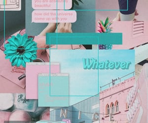 background, Collage, and pink image