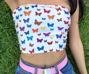 fashion, aesthetic, and butterfly image