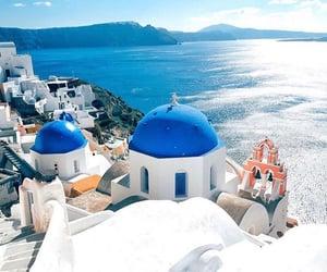 beach, beautiful, and Greece image