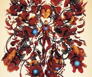 Avengers, background, and iron man image