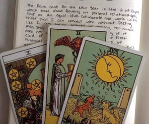 tarot, aesthetic, and green image
