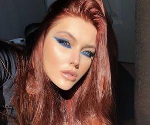 blue, makeup, and smokey image