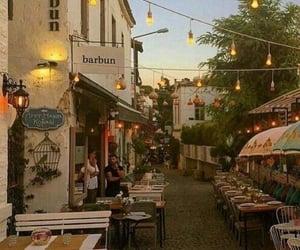 lights, restaurant, and travel image