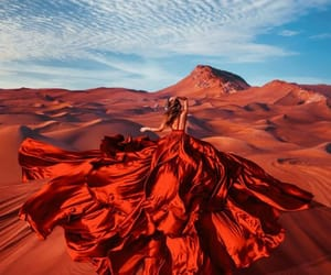 dress, desert, and red image