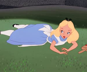 alice in wonderland, disney, and gif image