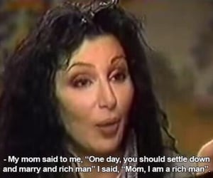 cher, quotes, and girl power image