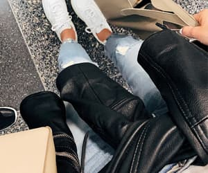 blogger, ripped, and ripped jeans image