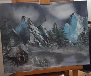 art, artist, and bob ross image