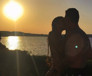 beach, boy, and couple image