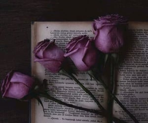 book, gothic, and flowers image