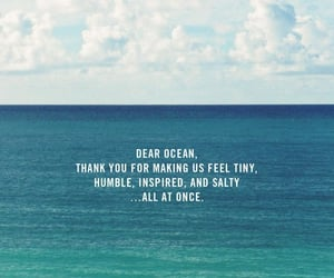 beach, ocean, and quote image