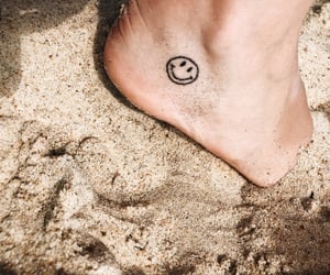 beach, smile, and sand image