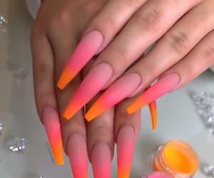 ghetto, nails, and orange image