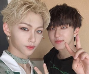 stray kids, felix, and changbin image
