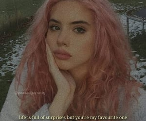 pink hair, quotes, and love image