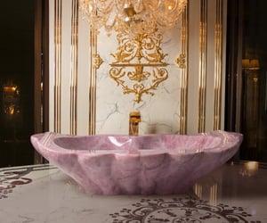 pink, luxury, and bath image