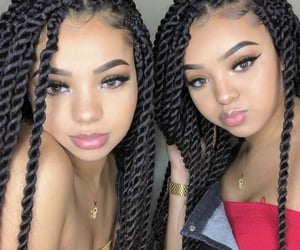 beautiful, braids, and girls image