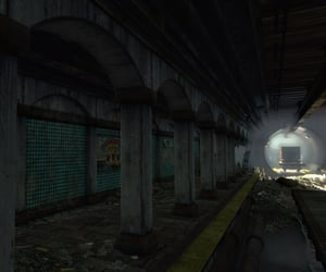 abandoned, train, and apocalypse image