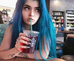 blue, hair, and cute image