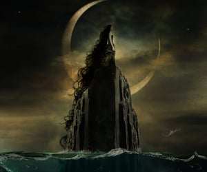 cliff, Darkness, and fantasy image