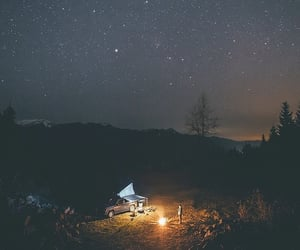 camp, camping, and cozy image