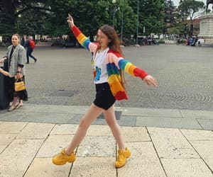 fashion, happy, and rainbow image
