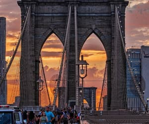 bridge, brooklyn bridge, and new york image