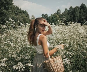 beauty, girl, and landscape image