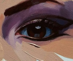 art, girl, and eye image