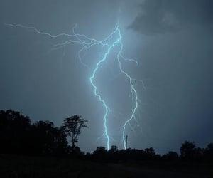 grunge, lightning, and sky image