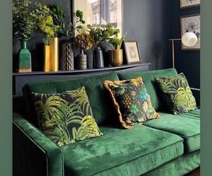 decor, velvet, and living room image