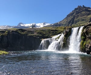 iceland, nature, and waterfall image