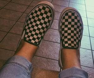filter, photography, and checkered vans image