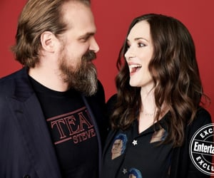 winona ryder, stranger things, and david harbour image
