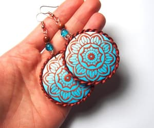 etsy, boho earrings, and gift for her image