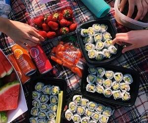 sushi, food, and picnic image
