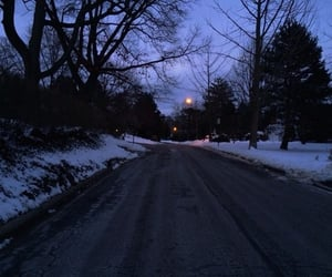 winter, snow, and grunge image